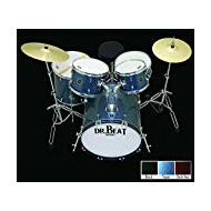 Batterie acoustique Dr. Beat One, Set 5pcs avec Hardware, assiettes, tabouret, baguettes et couleurs Sparkle